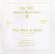 W.E. Hill & Sons 小提琴 E 弦 (尾部球狀)