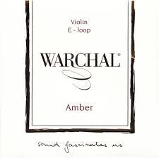 Warchal Amber 小提琴鋼合金螺旋 E 弦 (尾部球狀)