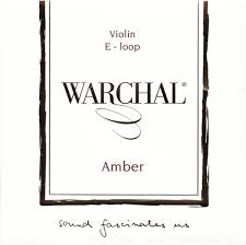 Warchal Amber 小提琴鋼合金螺旋 E 弦 (尾部環狀)