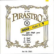 Gold Label Wondertone 小提琴 E 弦 (尾部球狀)