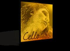 Evah Pirazzi Gold 大提琴鍍金弦套裝