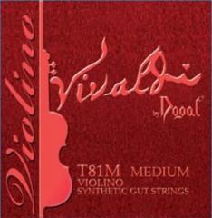 Vivaldi 小提琴套裝銀合金 D 弦(中張力 E 弦尾部球狀)